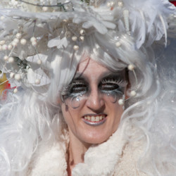 Snow Queen in Sparkles and Feathers