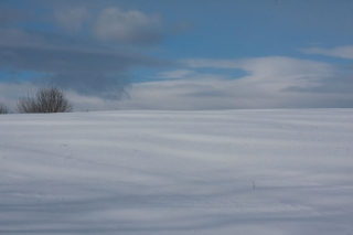 snow field and horizon on Quaker Hill_1756