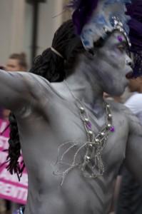Silver Man Dancing