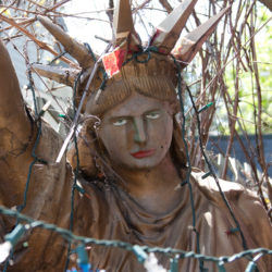 angry Statue of Liberty, New Hope, PA